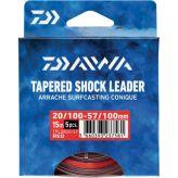 Chicotes Daiwa  - Tapered Shock Leader vermelho